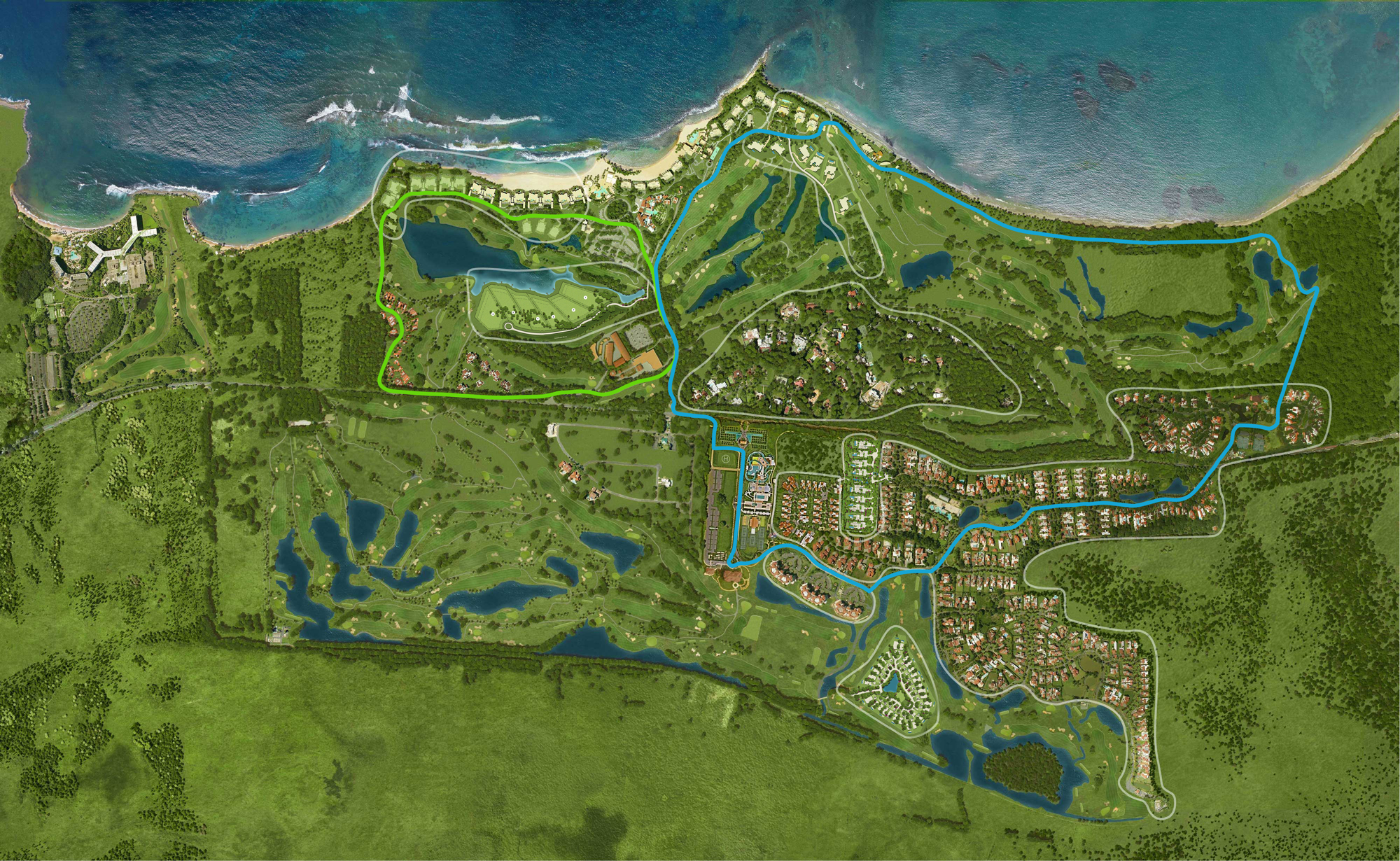 Resort Map - Dorado Beach Resort on